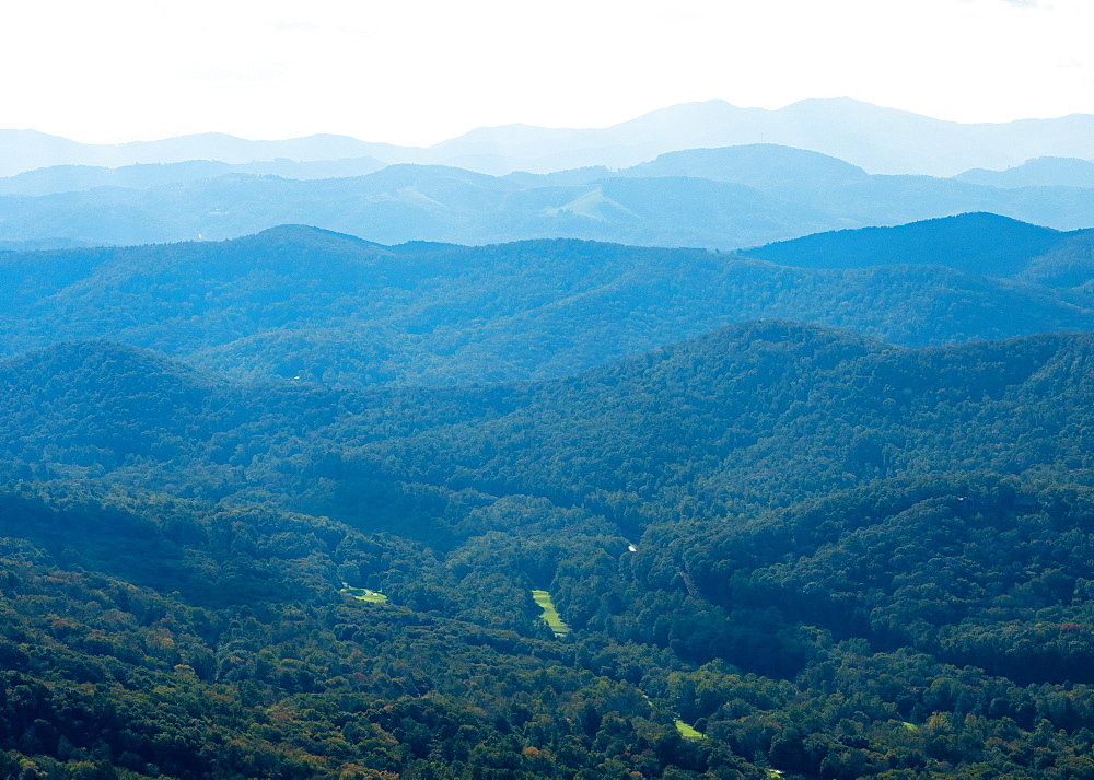 View of Blue Ridge Mountains, North Carolina, United States of America, North America