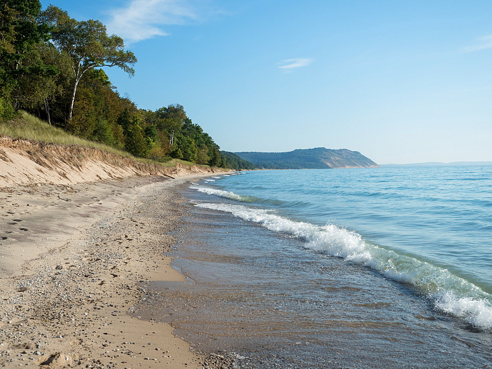 Beach, Sleeping Bear Dunes National Park, Glen Arbor, Michigan, United States of America, North America