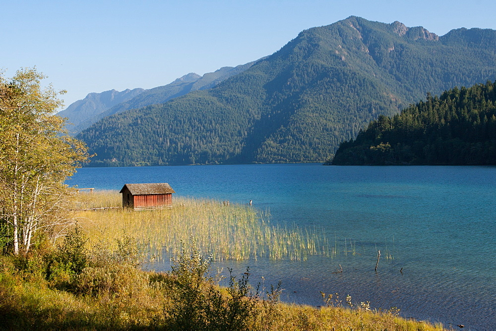 Lake Crescent, Olympic National Park, UNESCO World Heritage Site, Washington State, United States of America, North America - 1242-414