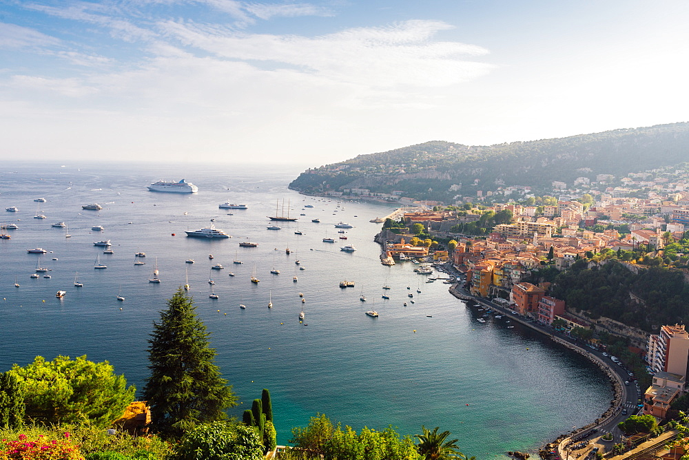 Aerial view of Villefranche, Cote d'Azur, France