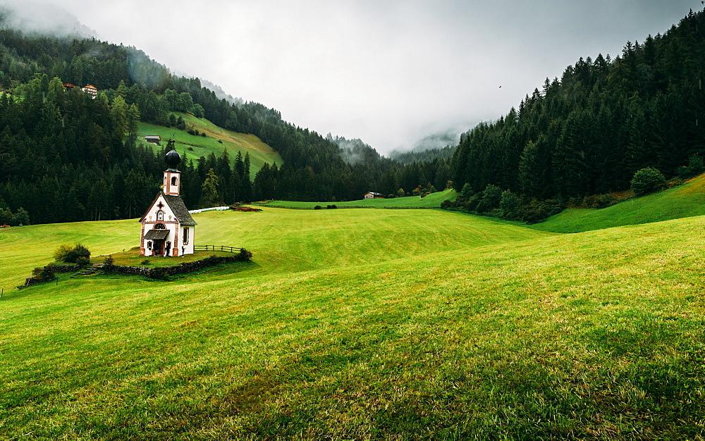 St. Johann church, Santa Maddalena, Val di Funes, Dolomites, Bolzano province, Trentino-Alto Adige, Italy, Europe - 1243-200
