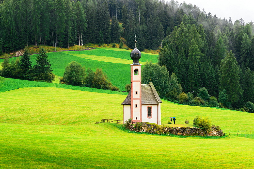 St. Johann church, Santa Maddalena, Val di Funes, Dolomites, Bolzano province, Trentino-Alto Adige, Italy, Europe - 1243-201