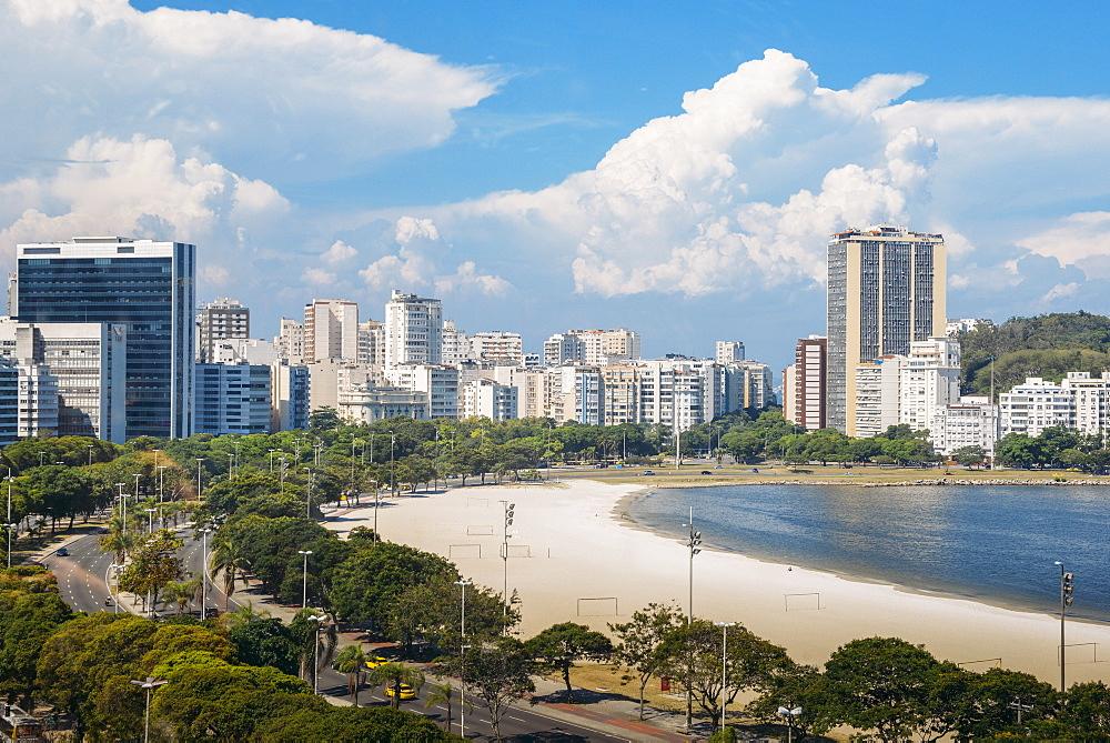 Aerial view of Botafogo Beach, Rio de Janeiro, Brazil, South America - 1243-220