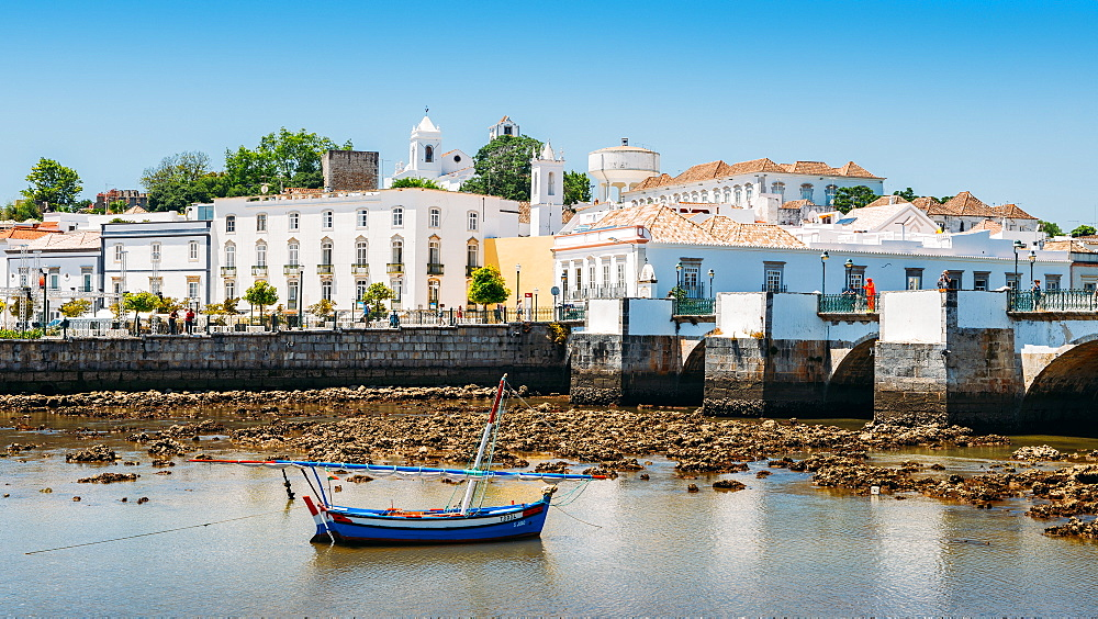 Tavira, an ancient Moorish town that has retained its unique character and heritage, Tavira, Algarve, Portugal, Europe - 1243-281
