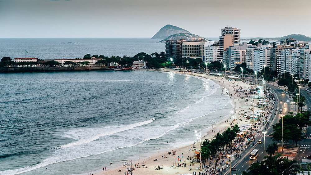 Copacabana Beach in Rio de Janeiro, UNESCO World Heritage Site, Brazil, South America