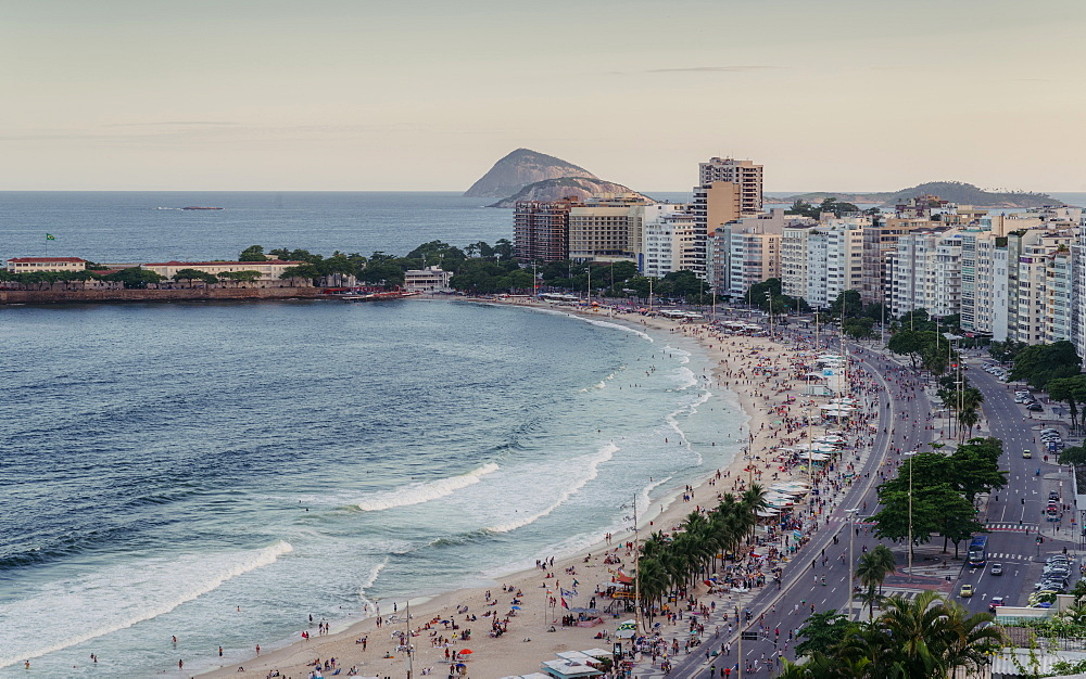 Copacabana Beach in Rio de Janeiro, UNESCO World Heritage Site, Brazil, South America - 1243-360