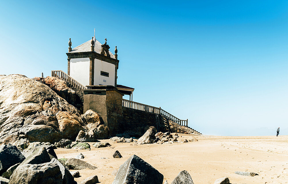 17th-century Capela Do Senhor Da Pedra (???Chapel of the Lord of Stone???) in Miramar, south of Porto, Portugal