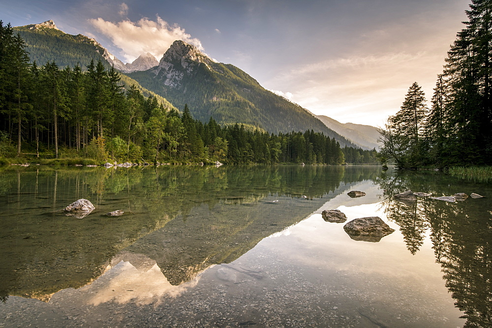 Lake Hintersee, Berchtesgadener Alpen, Bavaria, Germany, Europe - 1244-4