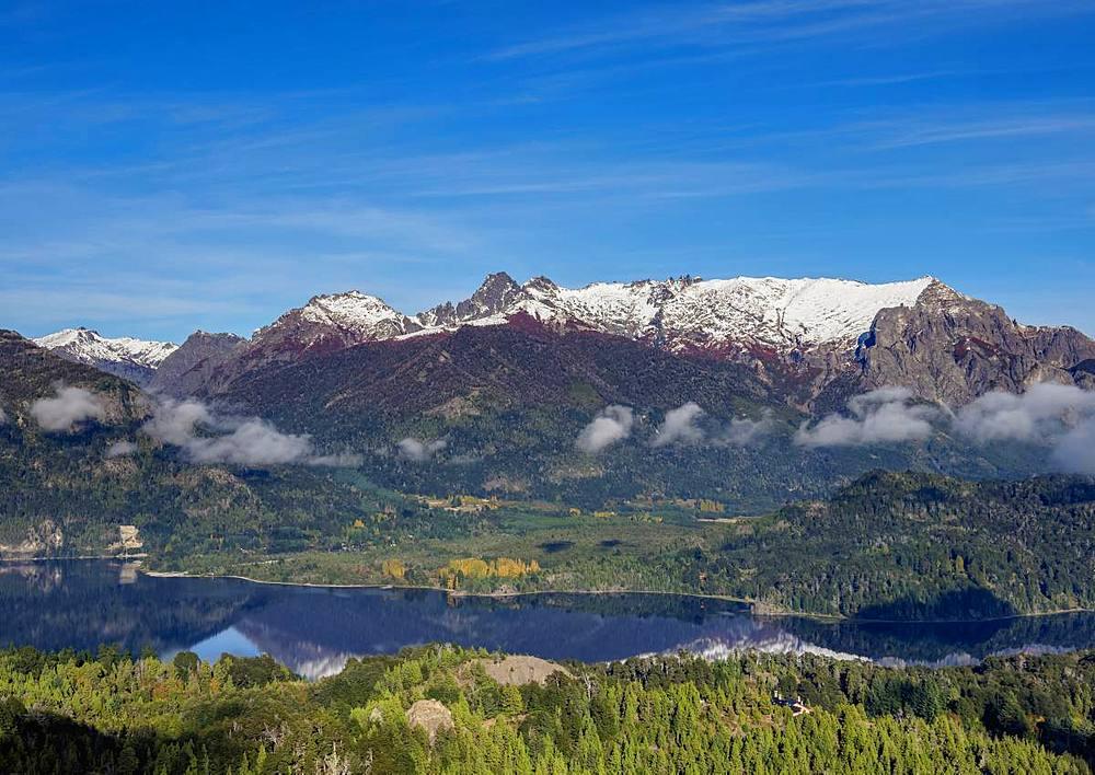 Perito Moreno Lake seen from Cerro Campanario, Nahuel Huapi National Park, Rio Negro Province, Argentina, South America