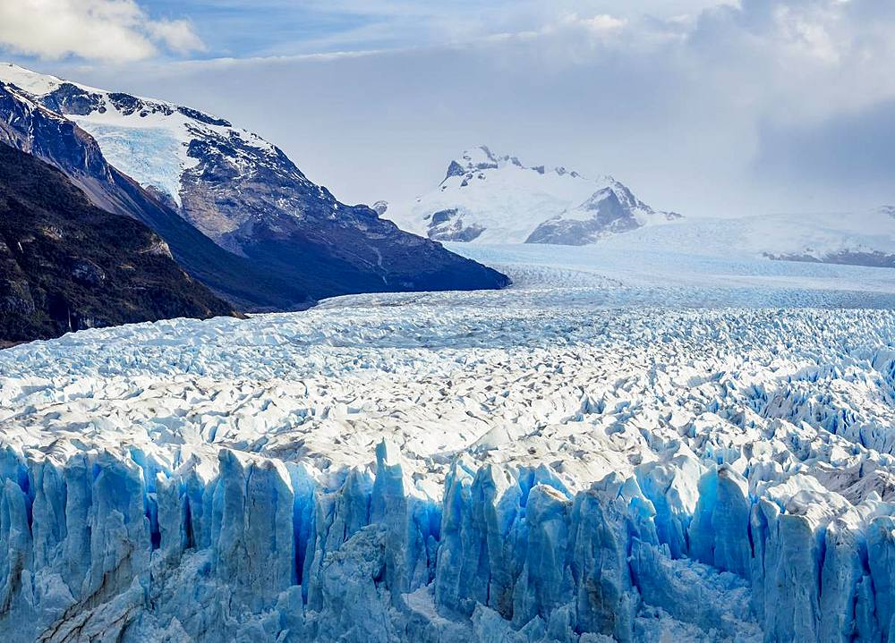 Perito Moreno Glacier, elevated view, Los Glaciares National Park, UNESCO World Heritage Site, Santa Cruz Province, Patagonia, Argentina, South America
