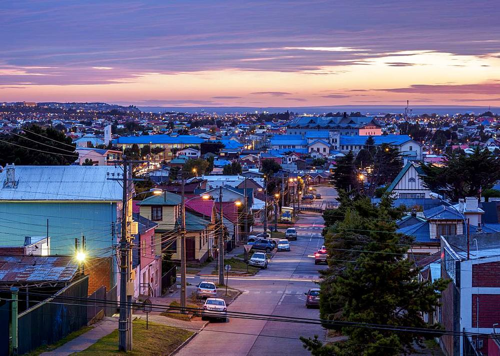 Punta Arenas at dawn, Magallanes Province, Patagonia, Chile, South America