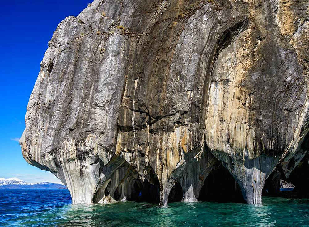 Marble Cathedral, Santuario de la Naturaleza Capillas de Marmol, General Carrera Lake, Aysen Region, Patagonia, Chile, South America