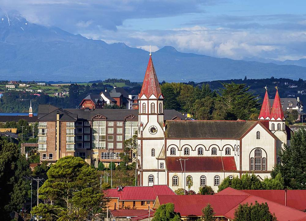 Sagrado Corazon de Jesus Church, Puerto Varas, Llanquihue Province, Los Lagos Region, Chile, South America