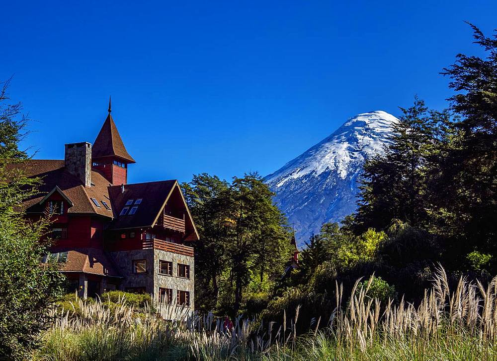 Petrohue Lodge and Osorno Volcano, Petrohue, Llanquihue Province, Los Lagos Region, Chile, South America