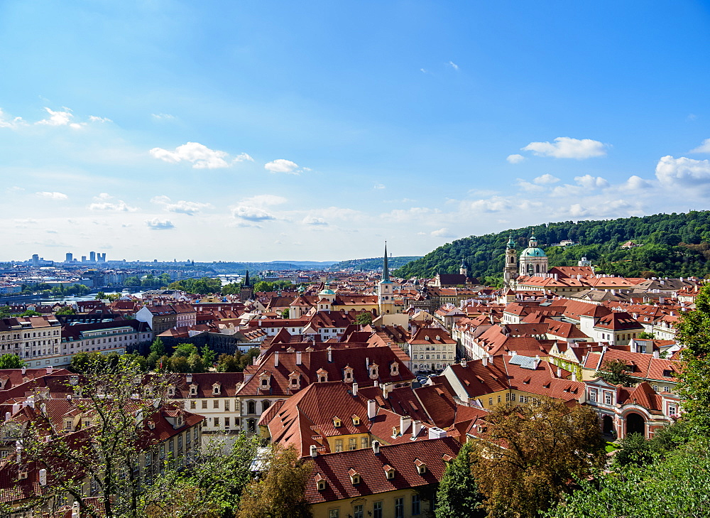 Mala Strana (Lesser Town), elevated view, UNESCO World Heritage Site, Prague, Bohemia Region, Czech Republic, Europe