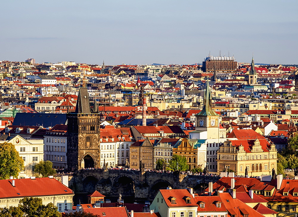 Stare Mesto (Old Town), elevated view, Prague, UNESCO World Heritage Site, Bohemia Region, Czech Republic, Europe