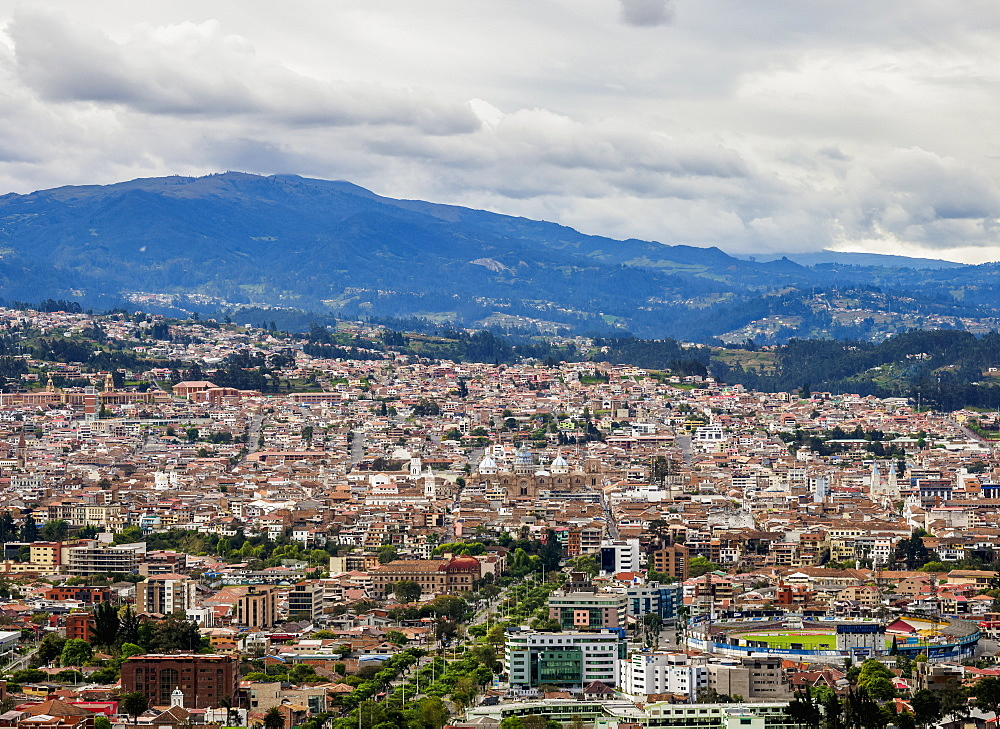 Cuenca Cityscape from Turi View Point, Azuay Province, Ecuador - 1245-1255