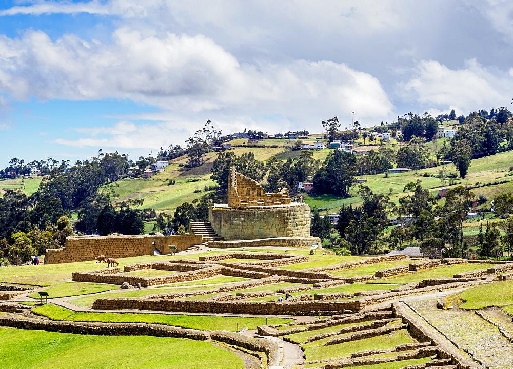 Temple of the Sun, Ingapirca Ruins, Ingapirca, Canar Province, Ecuador - 1245-1263