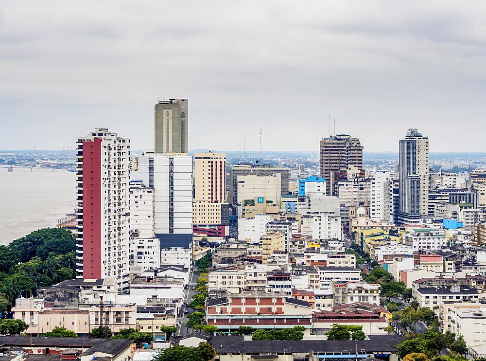 City Center seen from Santa Ana Hill, Guayaquil, Guayas Province, Ecuador - 1245-1266