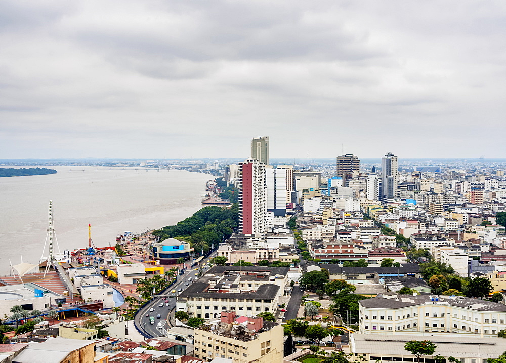 City Center seen from Santa Ana Hill, Guayaquil, Guayas Province, Ecuador - 1245-1267