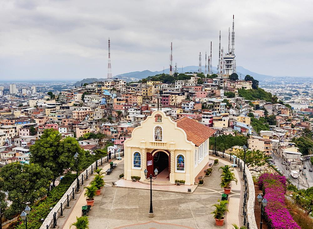 Santa Ana Hill, elevated view, Las Penas Neighbourhood, Guayaquil, Guayas Province, Ecuador - 1245-1268