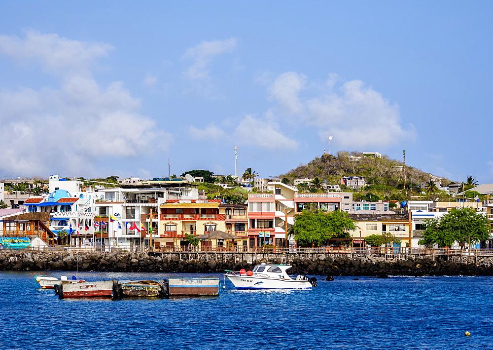 Boats in Puerto Baquerizo Moreno, San Cristobal or Chatham Island, Galapagos, Ecuador - 1245-1289