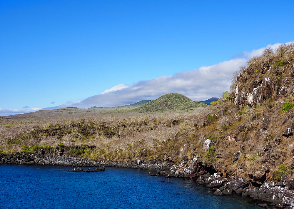 Landscape of western coast, San Cristobal (Chatham) Island, Galapagos, UNESCO World Heritage Site, Ecuador, South America