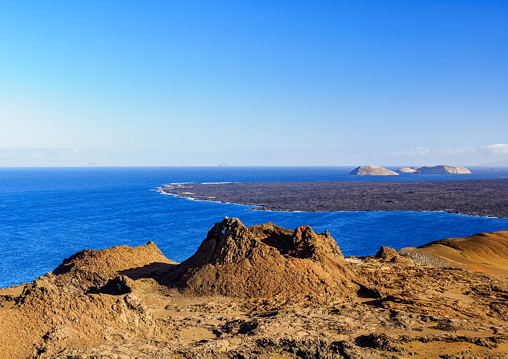 Volcanic landscape of Bartolome Island, Galapagos, UNESCO World Heritage Site, Ecuador, South America