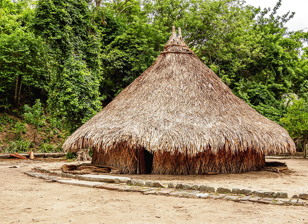 Kogi Hut, Pueblito Chairama, Tayrona National Natural Park, Magdalena Department, Caribbean, Colombia, South America