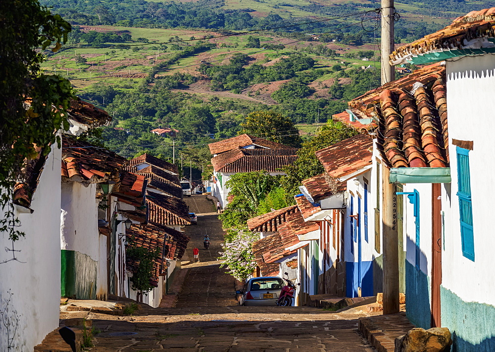 Street of Barichara, Santander Department, Colombia, South America
