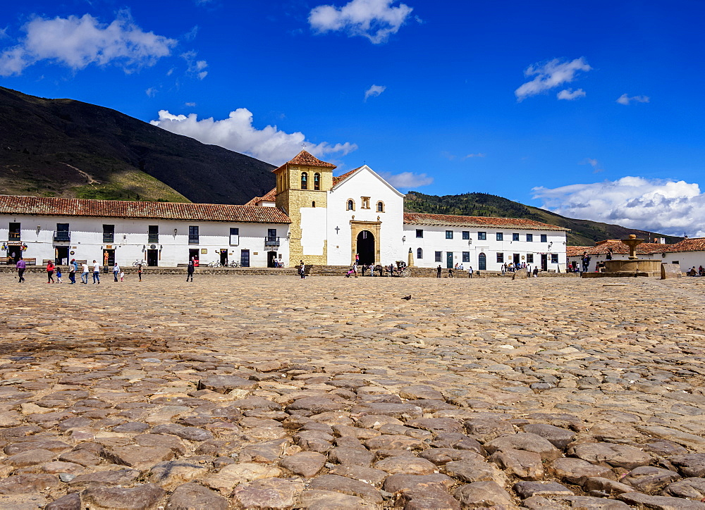 Our Lady of the Rosary Church, Plaza Mayor, Villa de Leyva, Boyaca Department, Colombia, South America