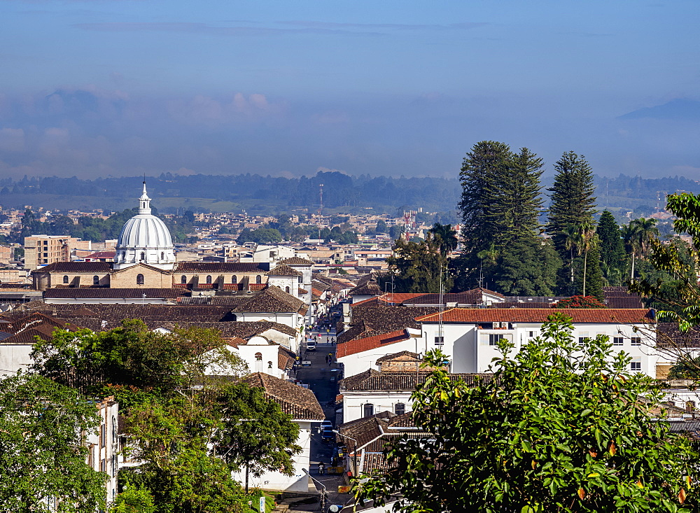 Popayan Cityscape, elevated view, Cauca Department, Colombia, South America
