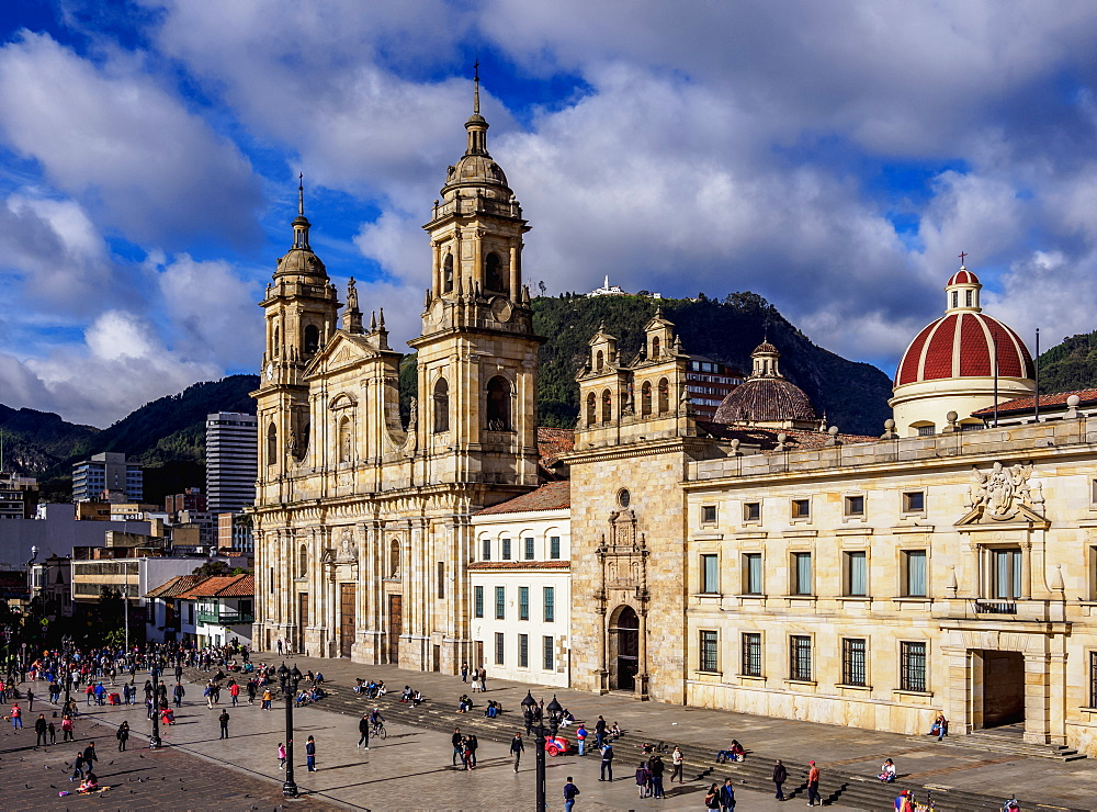 Cathedral of Colombia and Tabernacle Chapel, elevated view, Bolivar Square, Bogota, Capital District, Colombia - 1245-1440