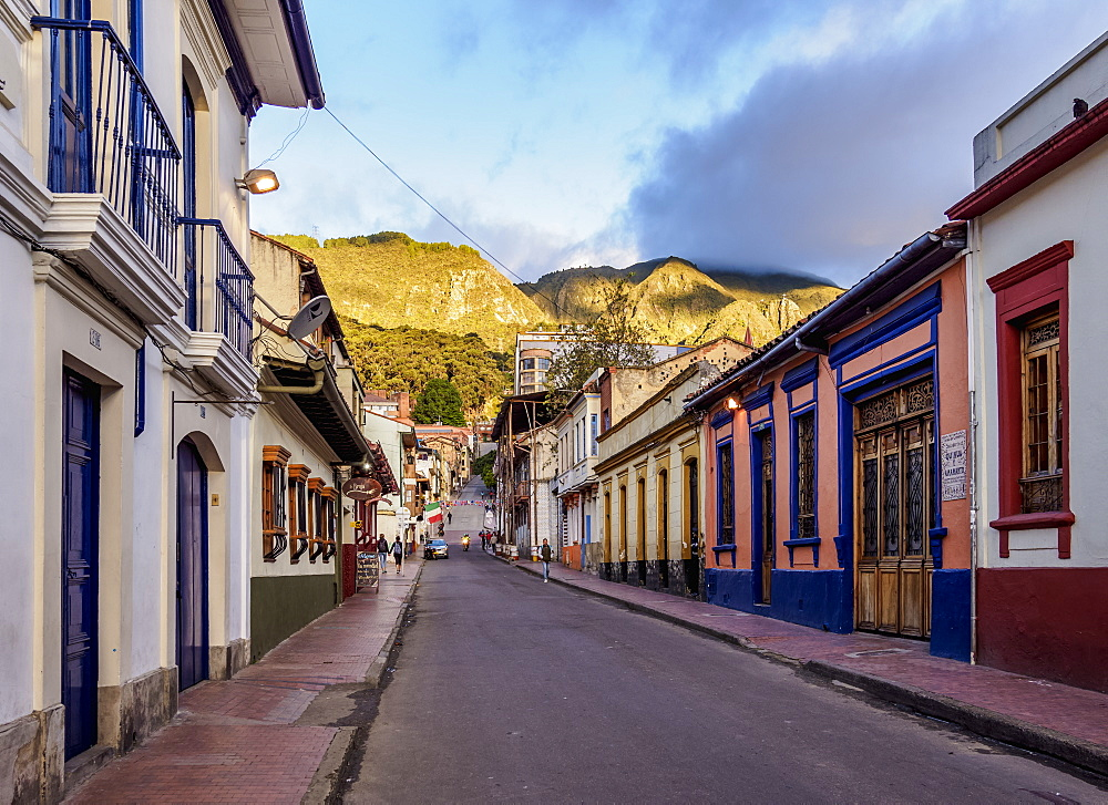 Street of La Candelaria, Bogota, Capital District, Colombia - 1245-1442