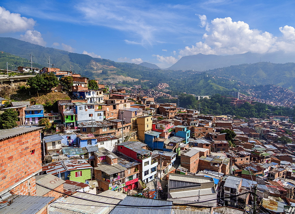 Comuna 13, elevated view, Medellin, Antioquia Department, Colombia - 1245-1453