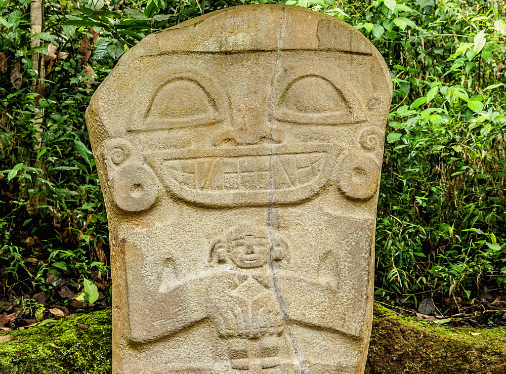 Pre-Columbian sculpture, San Agustin Archaeological Park, UNESCO World Heritage Site, Huila Department, Colombia, South America