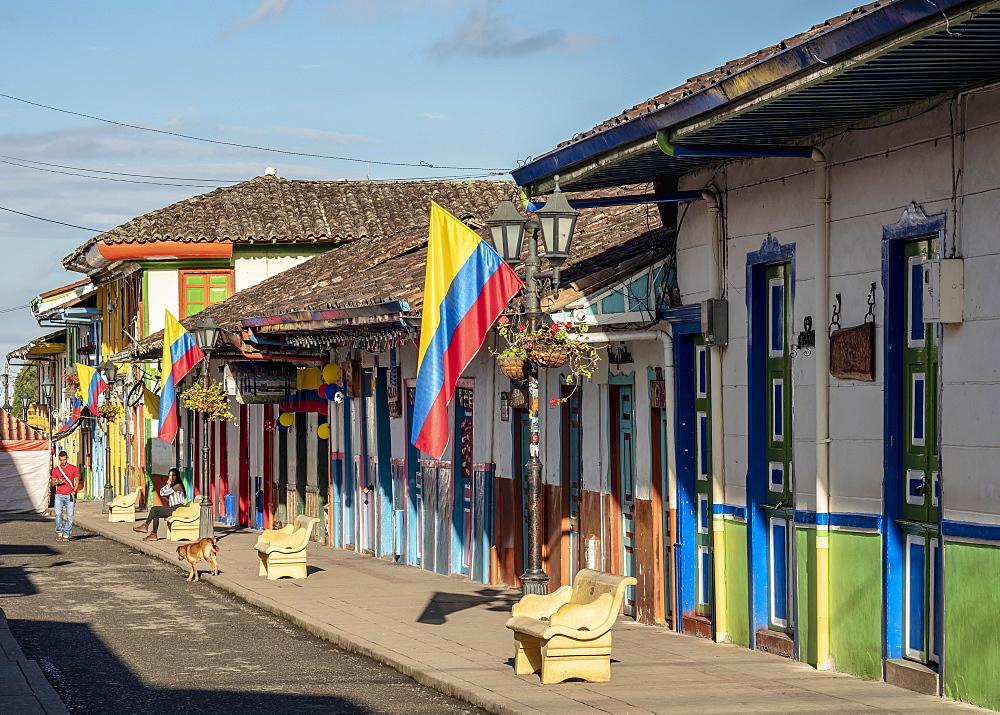 Street of Salento, Quindio Department, Colombia - 1245-1461