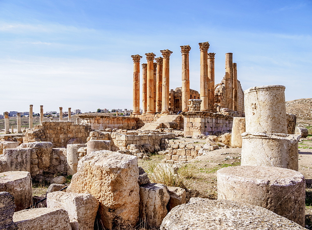Temple of Artemis, Jerash, Jerash Governorate, Jordan, Middle East