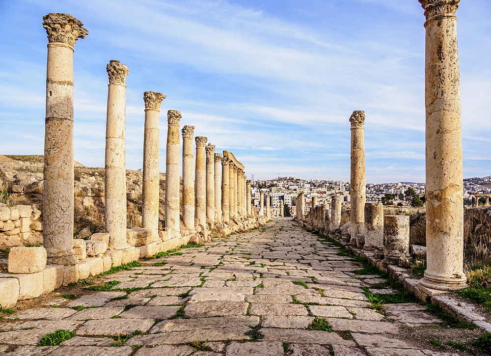 South Decumanus, Jerash, Jerash Governorate, Jordan, Middle East