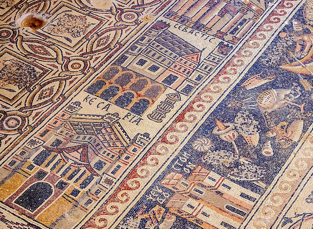 Mosaic Floor in Umm ar-Rasas, Amman Governorate, Jordan - 1245-1542