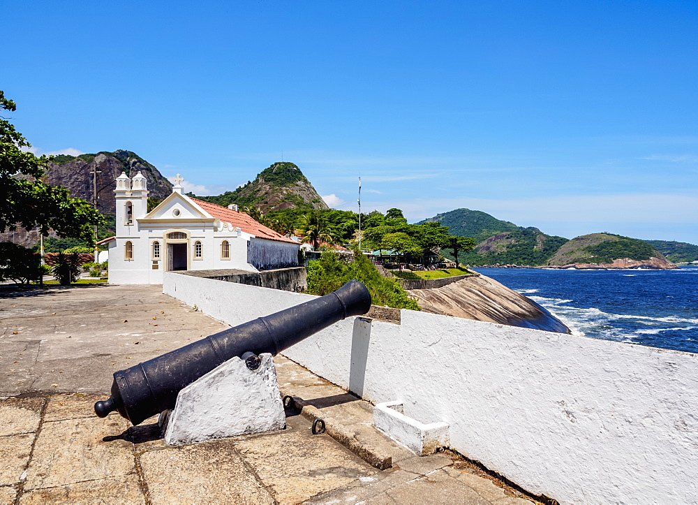 Santa Barbara Chapel, Santa Cruz da Barra Fort, Niteroi, State of Rio de Janeiro, Brazil, South America
