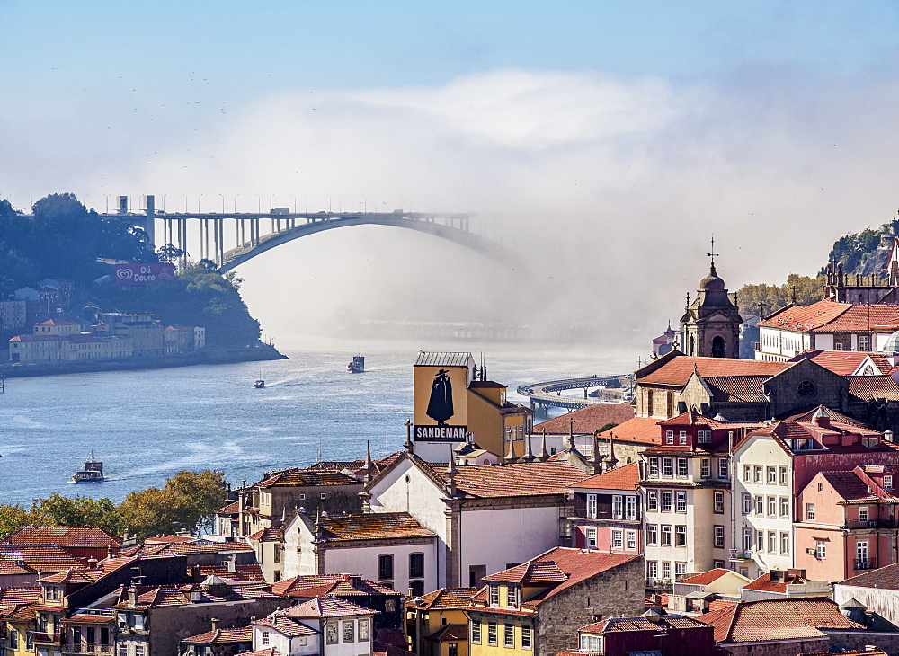 View towards Arrabida Bridge, Porto, Portugal, Europe