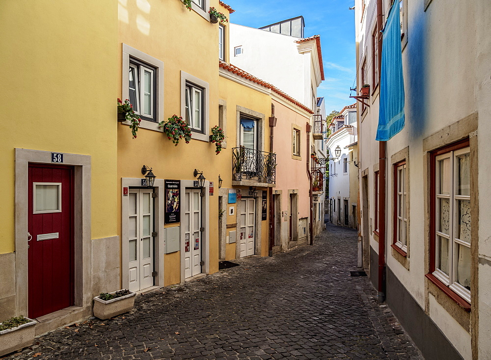 Narrow Lane of Alfama, Lisbon, Portugal, Europe