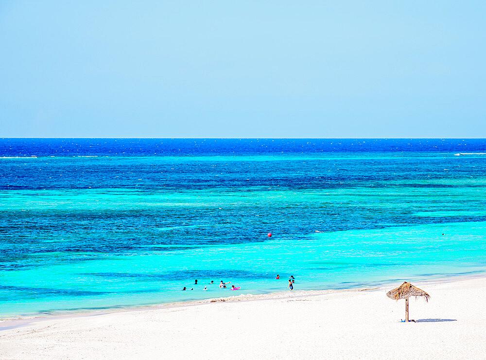 Guardalavaca Beach, elevated view, Holguin Province, Cuba, West Indies, Caribbean, Central America