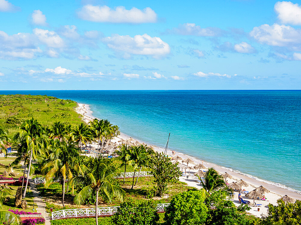 Playa Ancon, elevated view, Trinidad, Sancti Spiritus Province, Cuba, West Indies, Caribbean, Central America