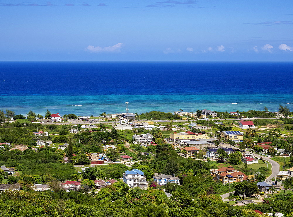 Coastline view from Greenwood Great House, Saint James Parish, Jamaica, West Indies, Caribbean, Central America
