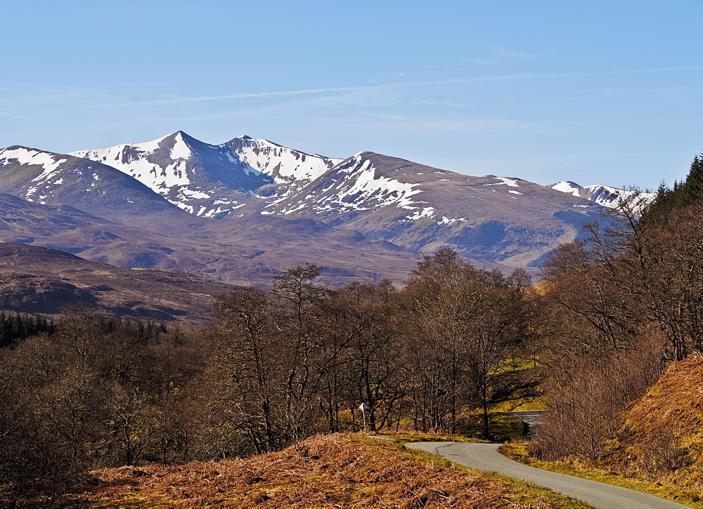 View towards Stob Ban and the Grey Corries, Roy Bridge, Highlands, Scotland, United Kingdom, Europe