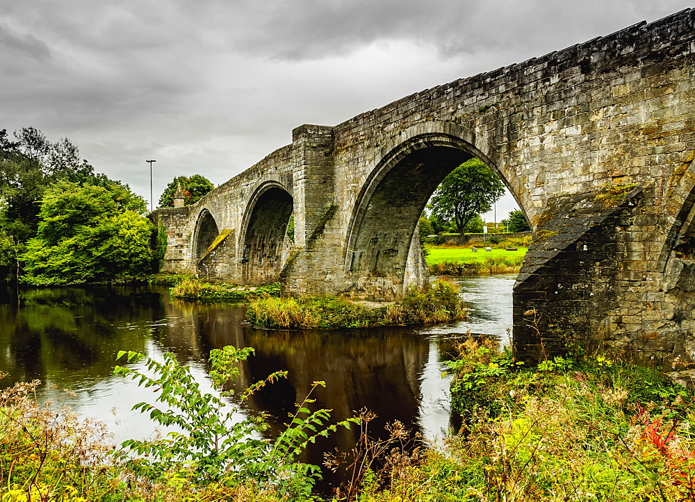 View of the Old Stirling Bridge, Stirling, Scotland, United Kingdom, Europe