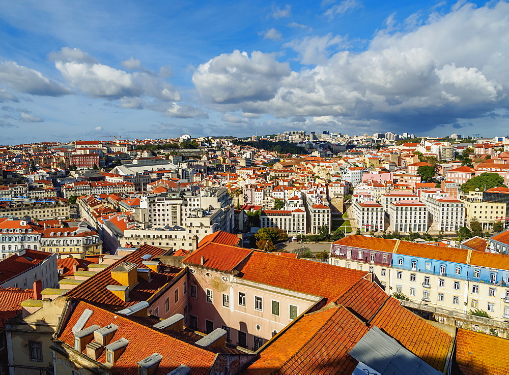 Cityscape viewed from the Sao Jorge Castle, Lisbon, Portugal, Europe