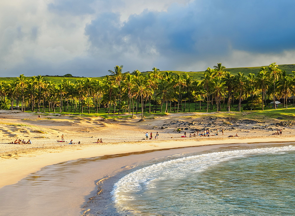 Anakena Beach, Easter Island, Chile, South America